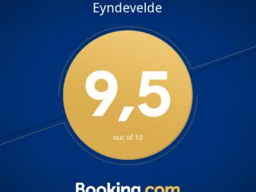 Eyndevelde vakantiewoningen scoren 9,5 op 40 reviews bij booking.com