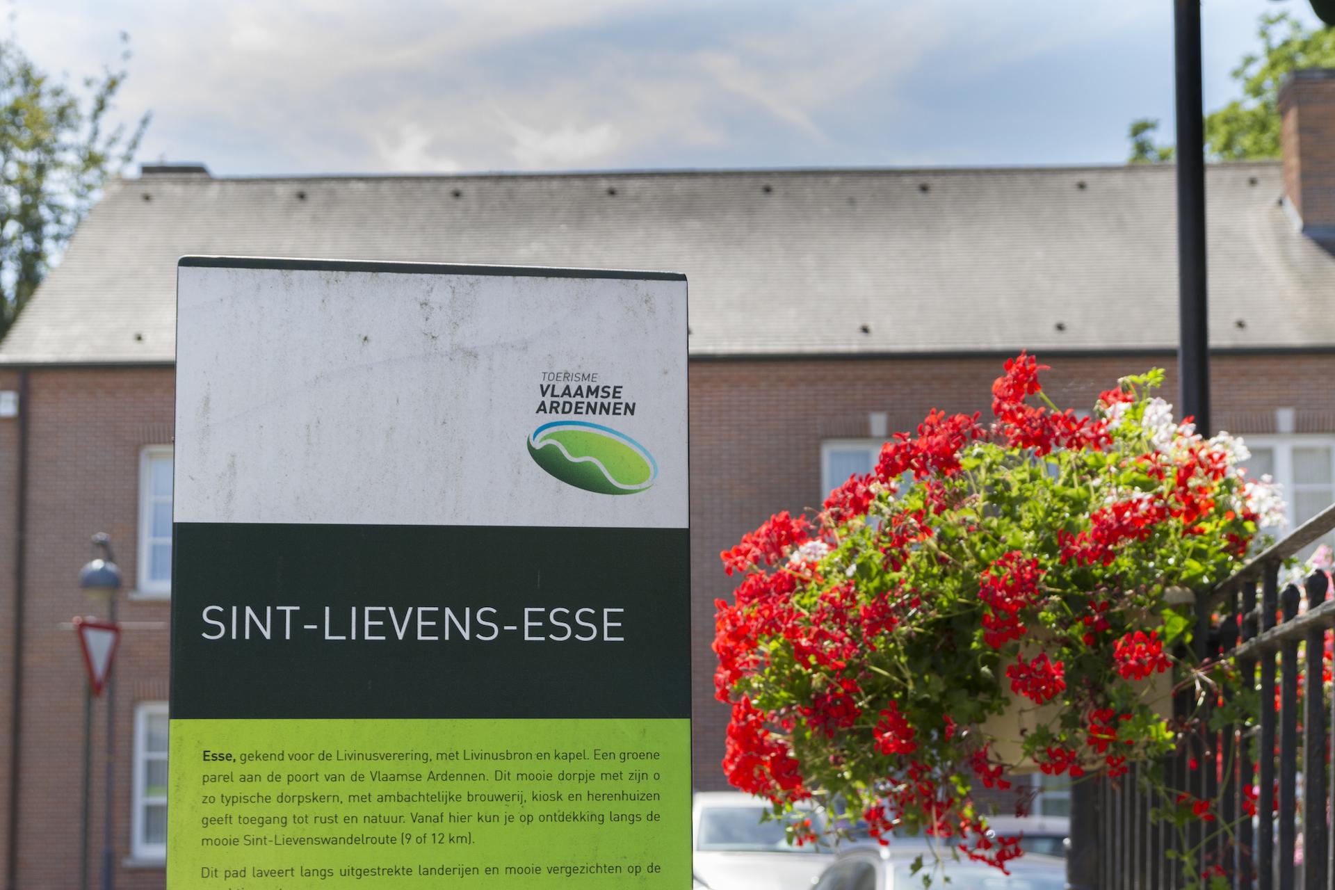 Toerisme Vlaanderen heeft een infobord over de omgeving in Sint-Lieven-Esse, het dorp van Eyndevelde